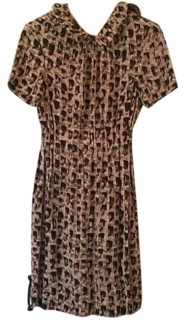 Item - Pink Brown New York Mid-length Cocktail Dress Size 4 (S)