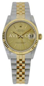 Rolex Rolex DateJust 31 Steel & Yellow Gold Watch Champagne Dial Jubilee
