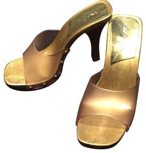Candie's Studded Summer Gold/Clear Sandals