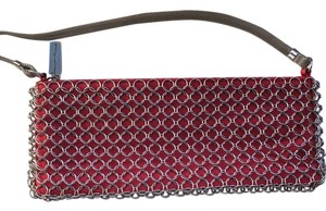 Whiting & Davis Red Clutch