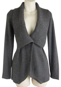 Classiques Entier Nordstrom Marled Shawl Collar Soft Metallic Silver Sweater