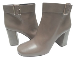 Prada Leather Side-buckle Grey Boots