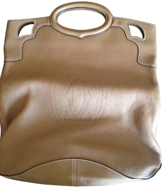 Item - Marcello Fold-over Camel Leather Tote