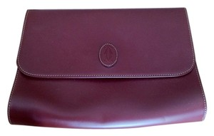 Cartier Oxblood Clutch