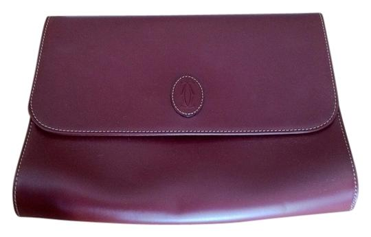 Preload https://item3.tradesy.com/images/cartier-oxblood-leather-clutch-1467332-0-2.jpg?width=440&height=440