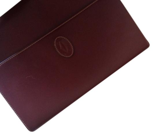 Cartier Oxblood Clutch Image 2
