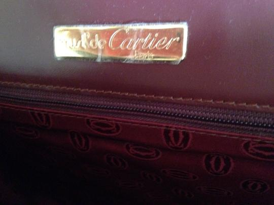 Cartier Oxblood Clutch Image 3