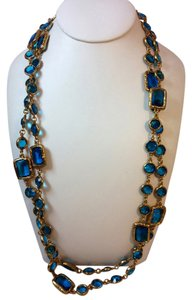 Chanel CHANEL Vintage 1981 Sapphire Crystal Sautoir Chain Necklace