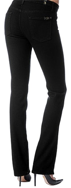 7 For All Mankind Seven Bootcut Stretch Lowrise Skinny Jeans-Dark Rinse