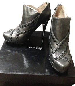 Boutique 9 Studded Heels Metallic Black Boots