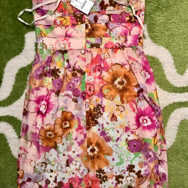 J.Crew short dress Pink Floral on Tradesy