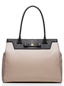 Kate Spade Pebbled Leather Satchel in Clocktower / Black