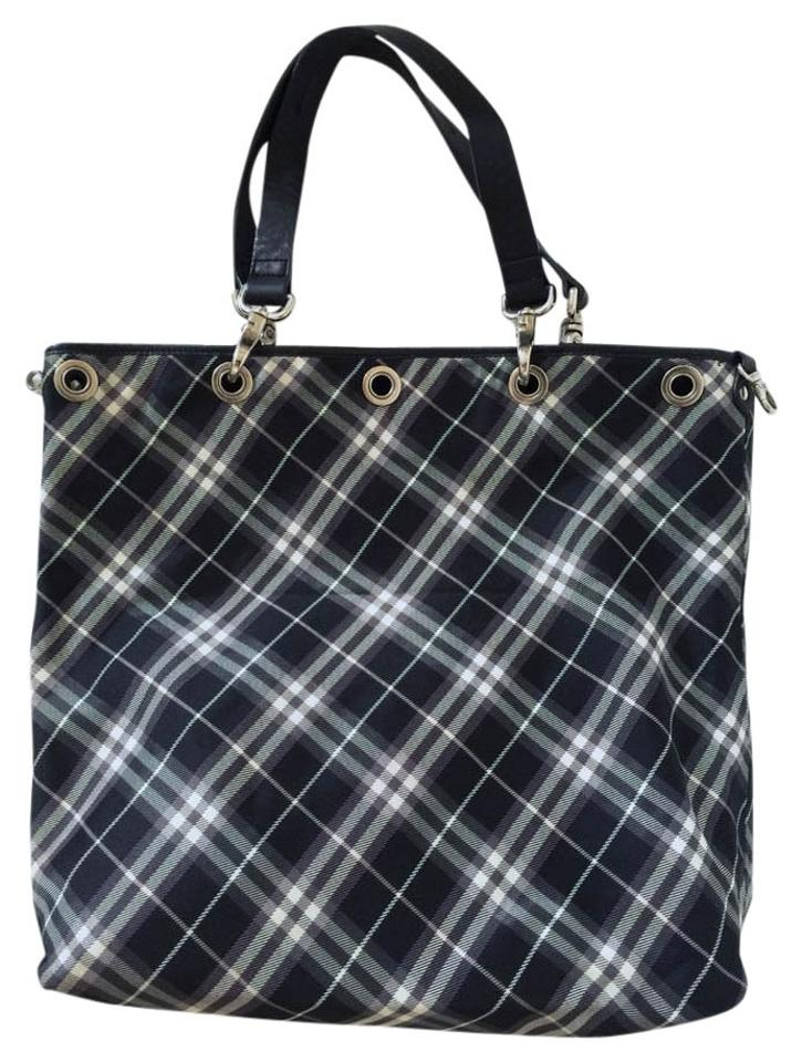 3ad849ae6874 Burberry Blue Label Reversible Pvc Cowhide Tote - Tradesy