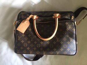 Louis Vuitton Laptop Apple Carry On Attache Travel Professional Satchel in Patterned
