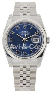 Rolex Rolex Datejust 36 Stainless Steel Jubilee Bracelet Watch Blue Roman Dial 116200