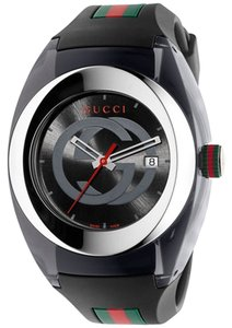 a084ff534f7 Gucci Gucci SYNC XXL YA137101 Stainless Steel Watch with Black Rubber  Bracelet