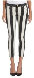 Genetic Denim Cropped Striped Capri/Cropped Denim
