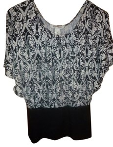 White House | Black Market Floral Top white,black