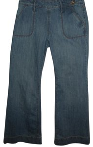Old Navy Super Flare Stretch Denim Stretch Cotton Trouser/Wide Leg Jeans