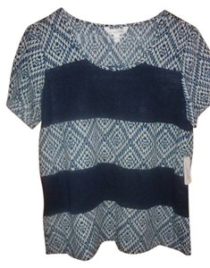 Charming Charlie Nwt Stripe Top blue