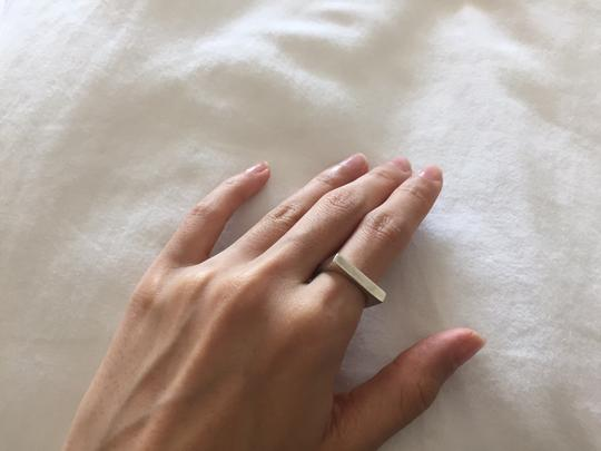 Versani (GREAT CONDITION-SHIP TODAY) Versani 92.5 Pure Silver Ring Square Brushed Matte Modern Chic Minimal Unique Rare
