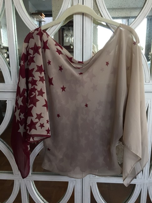 Designers Originals Top Beige And Burgundy