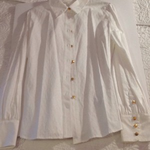 Dana Buchman Button Down Shirt Creamy White