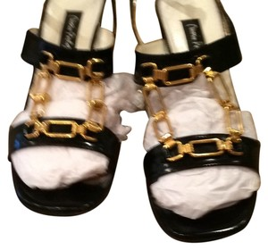 MARIO BOLOGUA BLACK with GOLD Mules