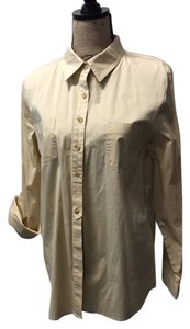 Chico's Button-up Roll Sleeves Button Down Shirt Golden