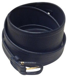 Emporio Armani New! Emporio Armani Black Leather Belt (XL)
