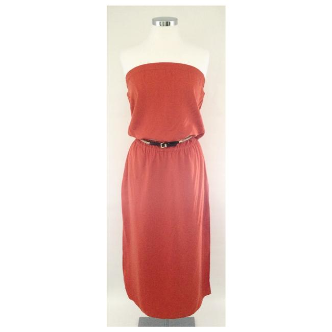 Item - Tangerine Strapless Long Casual Maxi Dress Size 4 (S)