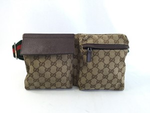 Gucci Monogram Waist Brown Travel Bag
