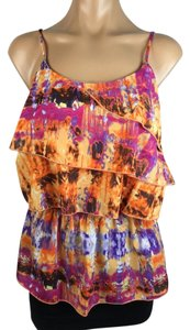 Romeo & Juliet Couture Tie Dye Top orange