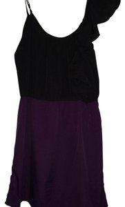 envy me short dress Black and purple on Tradesy