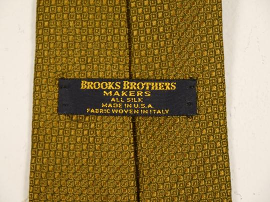 Brooks Brothers Brooks Brothers Makers 100% Silk Tie Deep Gold