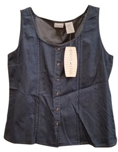 White Stag Top Blue Denim