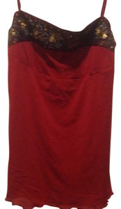 The Limited Brand New Empire Waist Cmi Top Burgundy