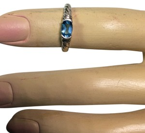 Thailand Sterling Silver GENUINE TOPAZ Ring Size 6 :SALE NOW