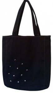 Plain Tote in Black Silver Star Stuuded