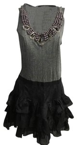 Young Fabulous & Broke Tiered Lbd Silk Black Dress