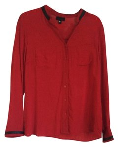 Worthington Button Down Shirt Red