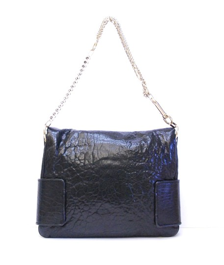 Givenchy Textured Leather Flap Front Multi Chain Straps Large Cartouche Shoulder Bag
