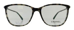 Chanel Gently Used Chanel Eyeglasses 3294-B c. 1488 Black Acetate Rhinestone Temples Full-Frame Made in Italy 54mm