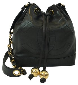 Chanel Lambskin Bucket Cross Body Bag
