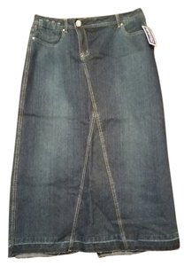 Baccini Maxi Skirt Blue Denim
