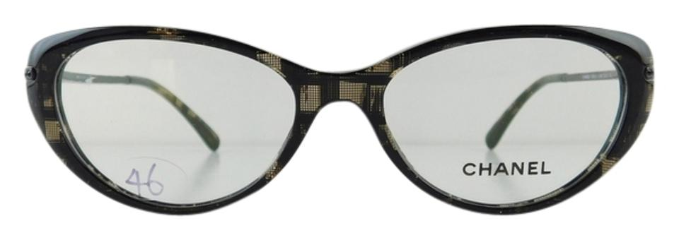 Chanel Eyeglass Frames With Rhinestones : Chanel Gently Used Eyeglasses 3296-B c. 1488 Black Acetate ...