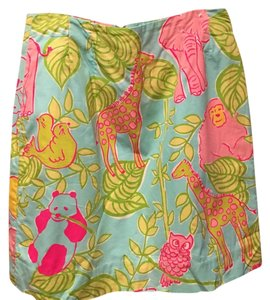 Lilly Pulitzer Skirt Blue, pink, green and yellow