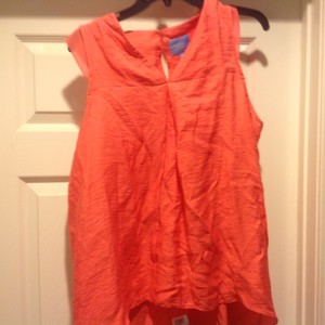 Simply Vera Vera Wang Color Orange peach Halter Top