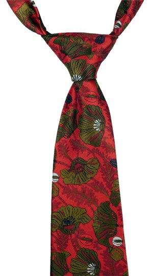Christian Dior Christian Dior 100% Silk Maroon and Green Tie: MSRP $275