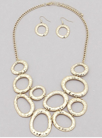 Other Oval Links Necklace and Earrings